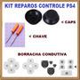 Kit Reparos Caps/chave/condutiva Cont Ps4 Retire Nova Iguaçu