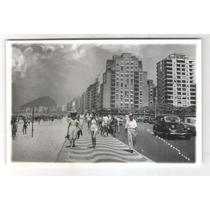 Postal Antigo Rio De Janeiro. Copacabana - Lido. Carros.