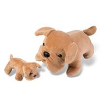 Filhotes Buldog Com Filhote- Animais De Pelúcia Grávidos