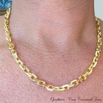 Corrente Elo Cartier Zeus Banhada A Ouro 18k Ojoalheiro