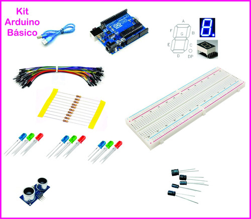 Kit básico arduino uno r automação residencial c cabo