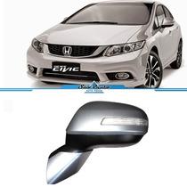 Retrovisor New Civic 2012 2013 2014 2015 Retrátil C/ Seta Le