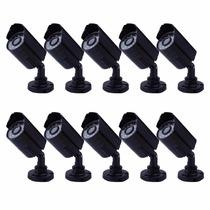 Kit 10 Cameras Seguranca Ccd Digital 1/3 Infra 30 Led 1200l