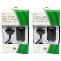 Kit 2 Bateria Carregador P/ Controle Xbox 24.000mah