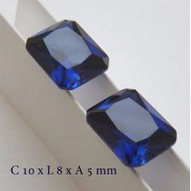 Safira Pedra Preciosa Tamanho 10x8 Mm Preço Do Par 3071a
