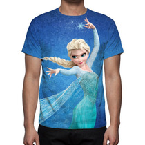 Camisa, Camiseta Frozen Elsa - Estampa Total