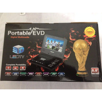 Dvd Portatil Evd Lcd Com Jogos Usb + Sd + Tv + Radio Fm