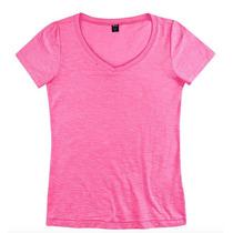 Blusinha Camiseta Gola V Feminina Hering Flame Original