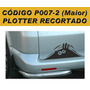 Adesivo Monstro Espiando - Plotado - Código P007-2 - 25 Cm