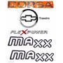 Emblemas Corsa Hatch Maxx Flex -2003 À 2007- Modelo Original