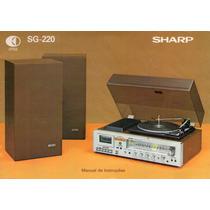 Manual Do Usuário Em Pdf Do Conjunto De Som 3x1 Sharp Sg-220