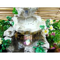 Fonte Água Gruta Rocha Cascata Led Cristal Pedra Decoração