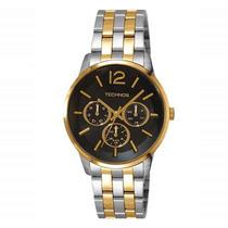 Relógio Technos Misto Dourado E Prata 6p29gq/5p Original
