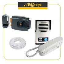 Kit Interfone Agl P10 + Fechadura Agl + 20mts De Fio