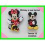 Jibbitz Crocs Mickey Minnie Disney - 4 Unidades