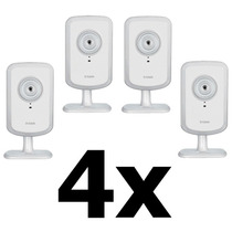 Kit 4 Cameras D-link Dcs-930l Ip Wireless Cloud Sem Fio Zoom