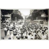 Cartão Postal Antigo Carnaval Av. Rio Branco Rio De Janeiro