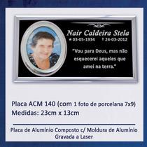 Placa, Lápide Para Jazigo / Túmulo / Cemitério - 140