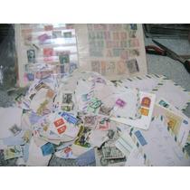 Lote Com Muitos Selos Varios Paises Pra Colecionador
