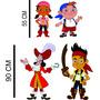 4 Display Jake E Os Piratas Da Terra Do Nunca Totem Painel