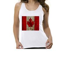 Camiseta Regata Bandeira Canadá - Feminino