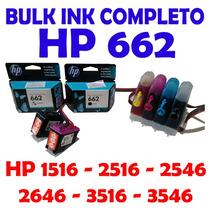 Bulk Ink Hp Montado 1516/2516/2546/3516 Completo + Cartuchos