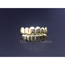 Grillz Hip Hop Rap Dentes Blindado Completo
