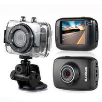 Mini Camera Filmadora Sports Hd Carro Bike Moto Prova Dágua