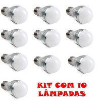 Kit 10 Lâmpada Led 12w 100w Bulbo Bivolt E27 Pronta Entrega