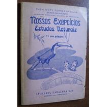 Livro Escolar Didático Antigo Anos 50 Vintage Com Guia Raro