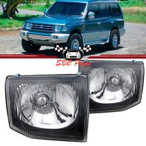 Farol Mitsubishi Pajero Gls Liso 1998 1999 2000 98 99 00 Par
