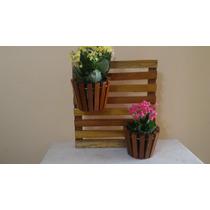 Suporte Vertical Para Flores Plantas Em Madeira 2 Vasos