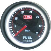 Auto Gauge Pressão De Combustivel 7 Bar 52mm Serie Smoke
