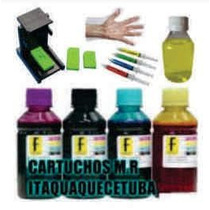 Kit Tinta Recarga Cartucho Hp 662 122 61 Preto Color