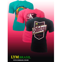 Kit 5 Camisetas Hollister Abercrombie Calvin Klein Bordadas