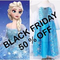 Vestido Frozen - Princesa Anna Fantasia Elsa Pronta Entrega