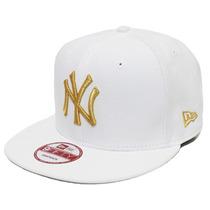 Boné New York Yankees White Gold Neymar Snapback Basic