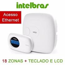 Central Alarme Intelbras Amt 2018e 18 Zonas C/ Xat2000 Lcd