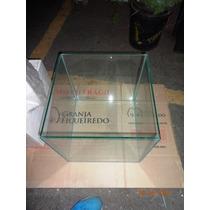 Aquário Vaso De Vidro Alto Quadrado 40x40x40 6 Mm