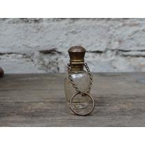 Vidro Perfumeiro Antigo Tampa Articulada E Estrelas Douradas