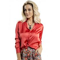 Camisa Cetim Feminina Principessa Cristina