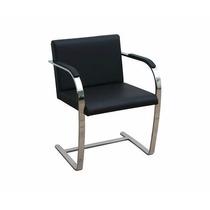 Cadeira Brno Barra Chata Cromada