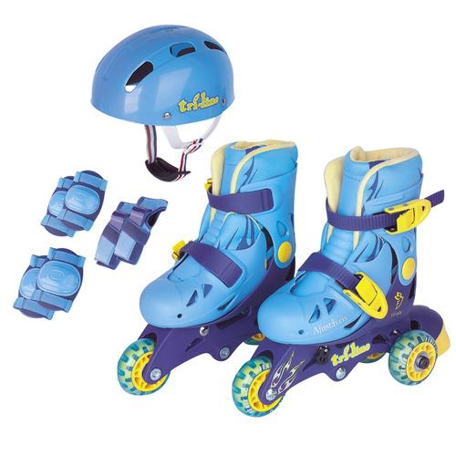 Patins Tri - line / in - line Ajustável Aces Fenix 26 - 29 - Azul