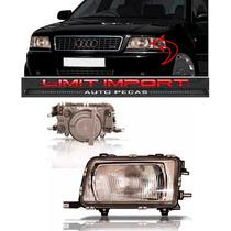 Farol Audi A80 Lado Esquerdo Ano 1993 1994 1995 Foco Simples