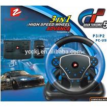 Volante 3 Em 1 Usb Para Ps2 Ps3 Pc High Speed Wheel Advance