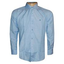 Camisa Social Ricardo Almeida Azul Claro Lisa