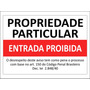 Placa Ps 2mm 40x50cm Propriedade Particular Entrada Proibida