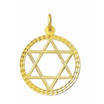 Estrela De Davi Grande De Ouro 18k 750 5,8gr
