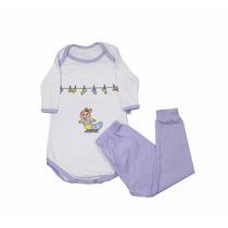 Pijama Bebê Menina - Body - Marca Nanar