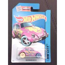 Volkswagen Beetle Fusca Rosa Lote E (herbie) Hot Wheels 2015